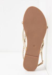 ONLY SHOES - ONLMARGIT BRAID SPLIT TOE  - T-bar sandals - gold - 6