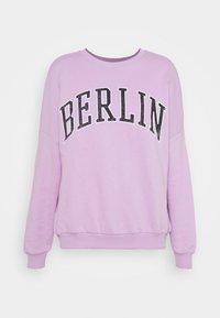 Printed Crew Neck Sweatshirt - Mikina - lilac