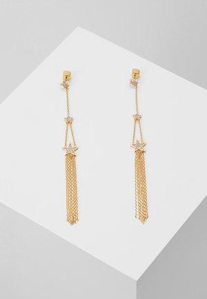 LINEAR EARRINGS - Earrings - clear/gold-coloured