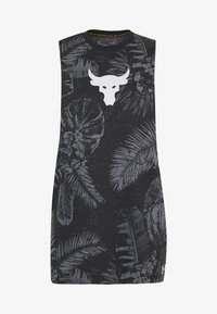 Under Armour - PROJECT ROCK ALOHA CAMO TANK - T-shirt de sport - black/summit white - 3