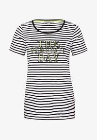 comma casual identity - MIT PAILLETTEN SCHRIFTZUG - Print T-shirt - white - 4