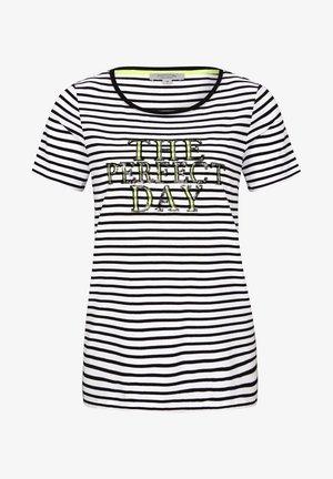 MIT PAILLETTEN SCHRIFTZUG - Print T-shirt - white