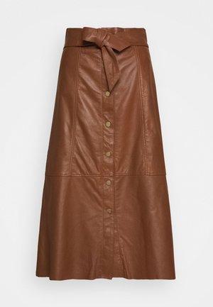 FLO - Áčková sukně - brown