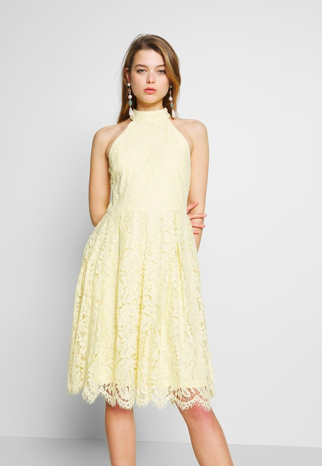 BLINDING DRESS - Cocktail dress / Party dress - light yellow