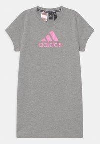 adidas Performance - DRESS - Jersey dress - grey/pink - 0
