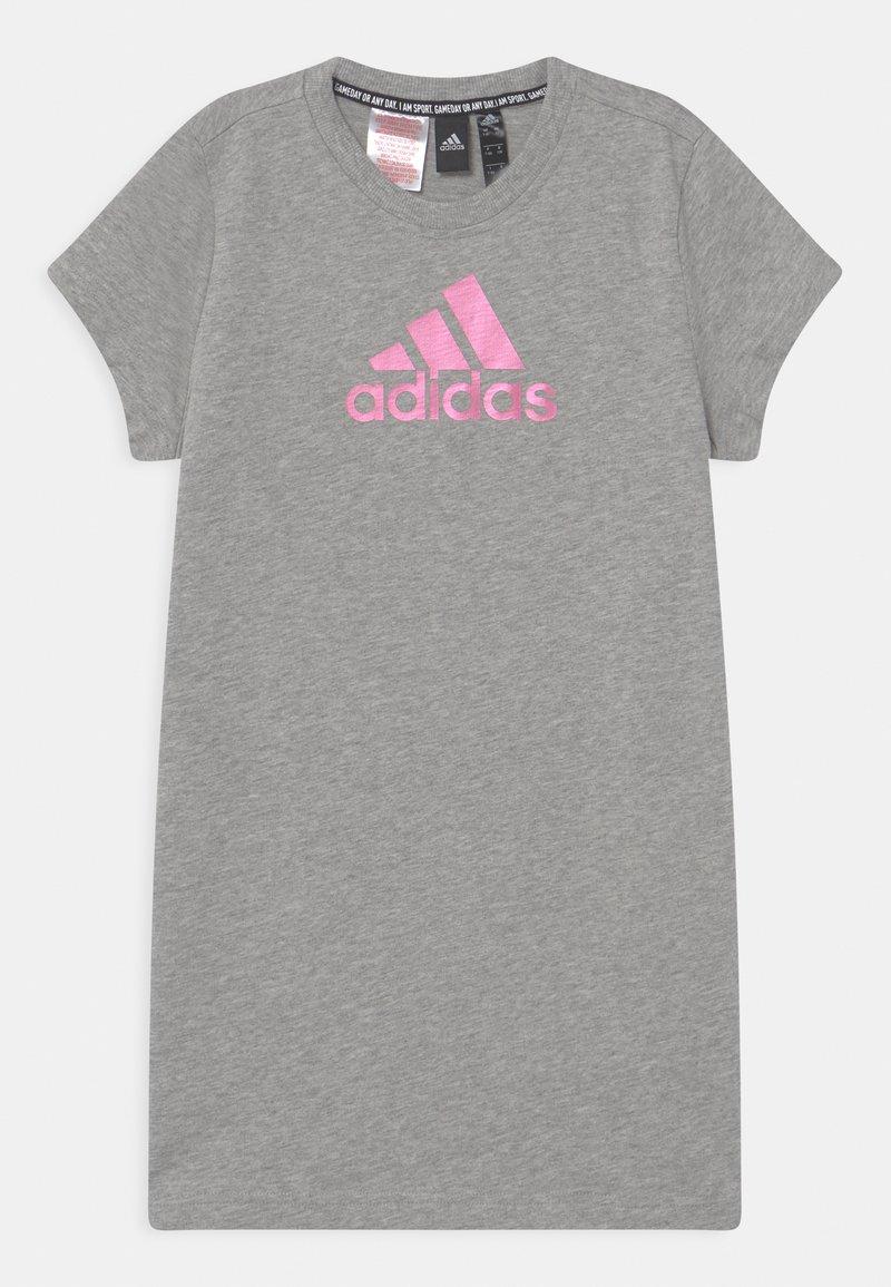 adidas Performance - DRESS - Jersey dress - grey/pink