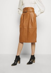 Alberta Ferretti - PIECES SKIRT - Pencil skirt - brown - 3