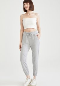 DeFacto - 2 PACK - Tracksuit bottoms - grey - 1