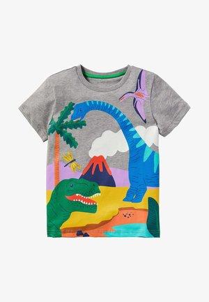 MIT TROPENSZENE - Print T-shirt - grau meliert/dinos