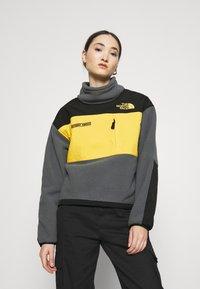 The North Face - STEEP TECH JACKET - Fleecegenser - vanadis grey/black/lightning yellow - 0