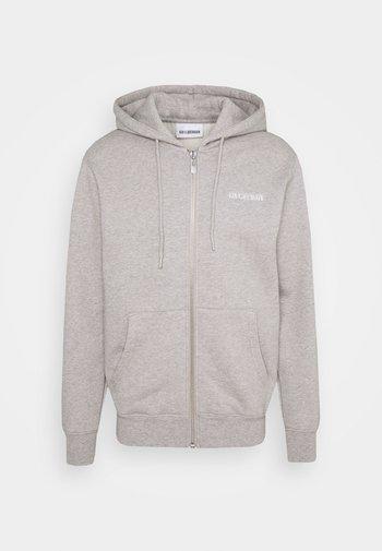 CASUAL ZIP HOODIE - Zip-up hoodie - grey melange