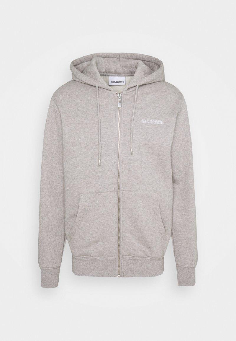 Han Kjøbenhavn - CASUAL ZIP HOODIE - Zip-up hoodie - grey melange