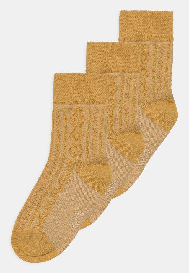 3 PACK UNISEX - Socks - curry