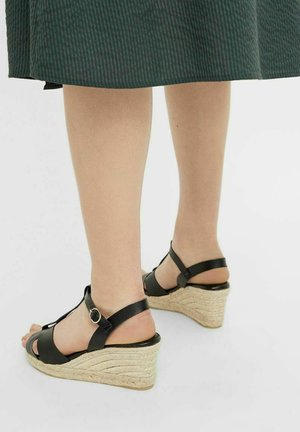 BIADENA - Wedge sandals - black