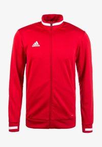 adidas Performance - TEAM 19 - Zip-up hoodie - red - 0
