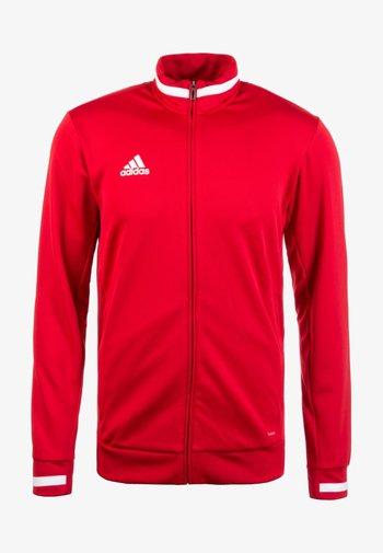 TEAM 19 - Zip-up hoodie - red