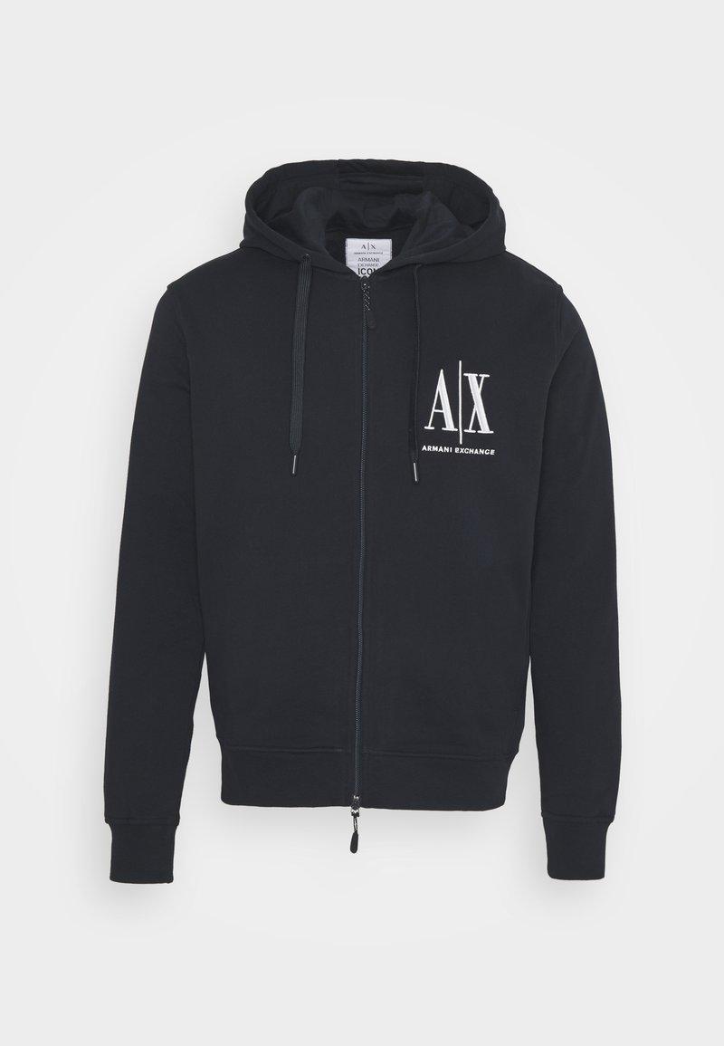 Armani Exchange - Zip-up hoodie - navy
