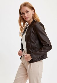 DeFacto - Faux leather jacket - brown - 4