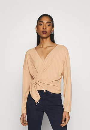 LUXURIOUS WRAP - T-shirt à manches longues - beige