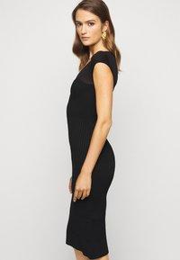 Hervé Léger - V NECK DRESS - Shift dress - black - 3