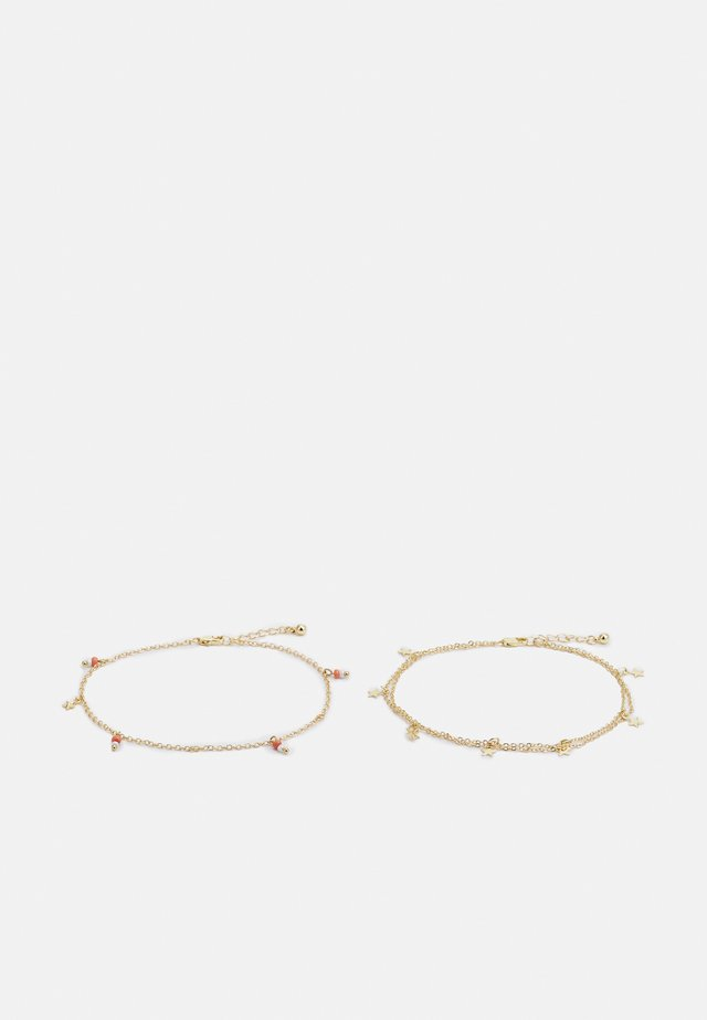 PCJIMA ANKLET 2 PACK - Muut asusteet - gold-coloured