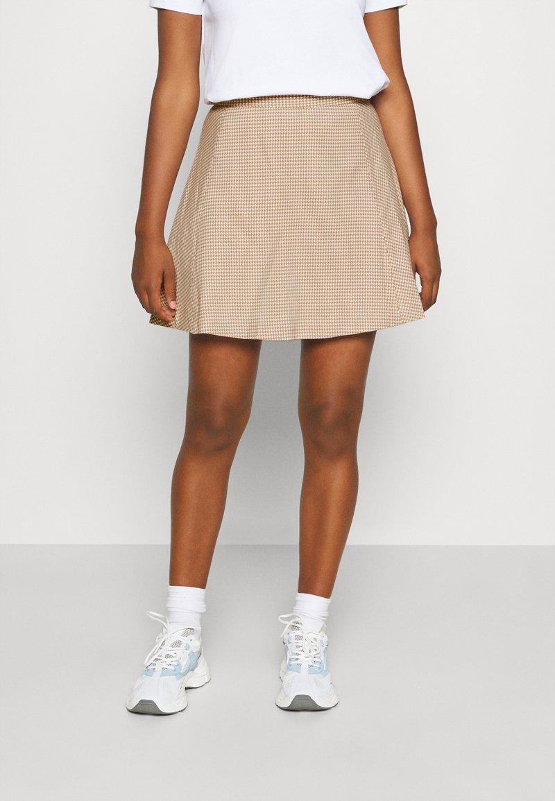 Monki - ULLA SKIRT - A-line skirt - beige