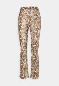 Proenza Schouler White Label - FAUX STRETCH PANTS - Kalhoty - maple multi - 0