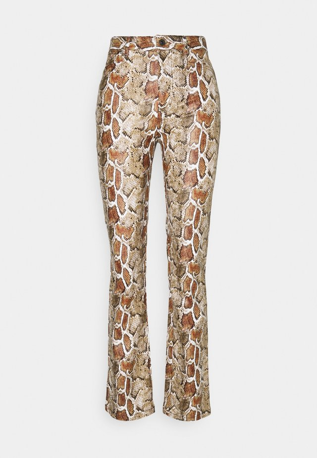 FAUX STRETCH PANTS - Trousers - maple multi