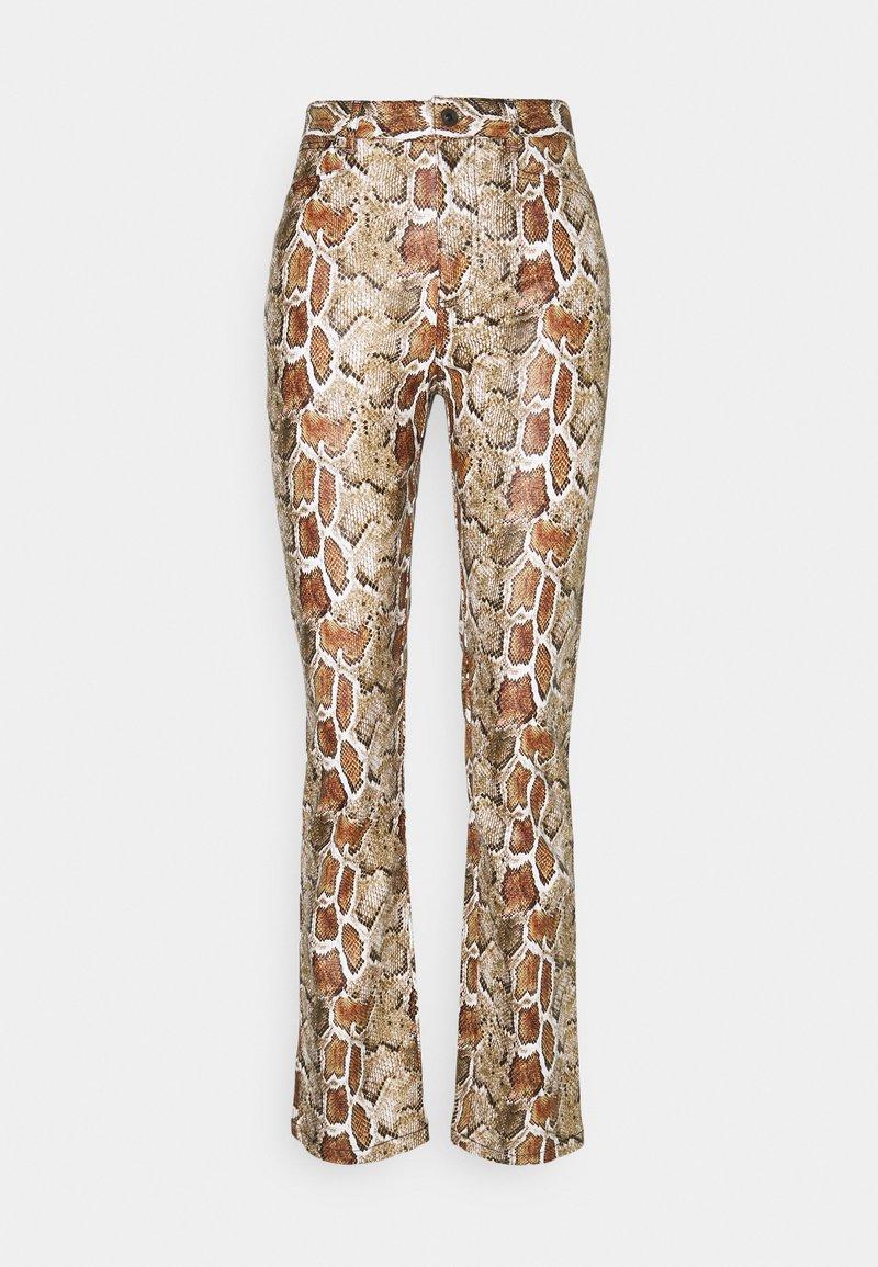 Proenza Schouler White Label - FAUX STRETCH PANTS - Kalhoty - maple multi