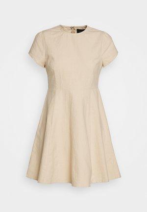 PUFF SLEEVE DRESS - Kjole - natural