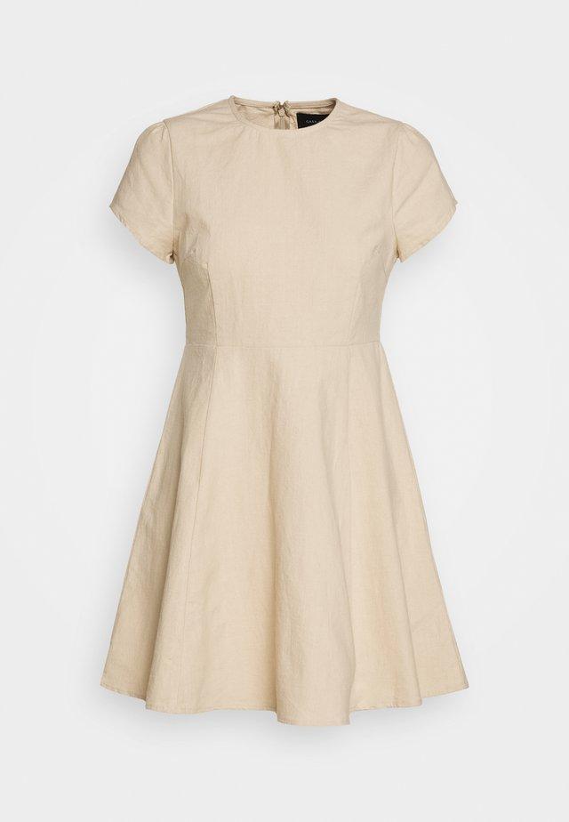 PUFF SLEEVE DRESS - Korte jurk - natural