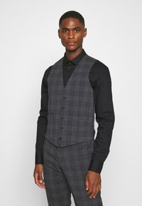 Isaac Dewhirst - BOLD CHECK 3PCS SUIT - Completo - dark blue - 4
