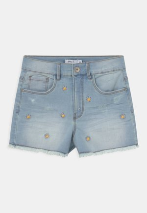 NKFBECKY   - Shorts vaqueros - light blue denim