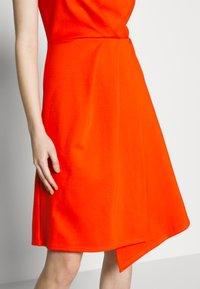 Closet - PLEATED WRAP A-LINE DRESS - Jersey dress - orange - 3