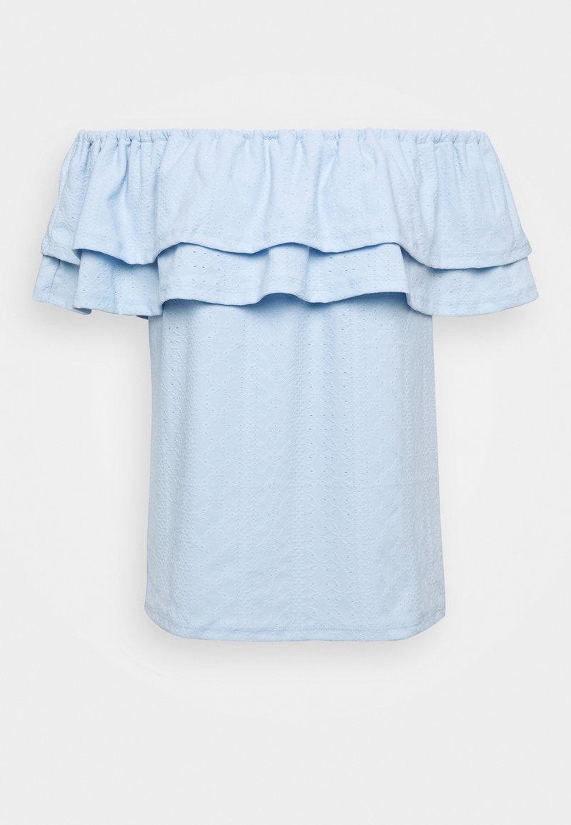 Dorothy Perkins - TEXT TIER BARDOT - Blouse - blue