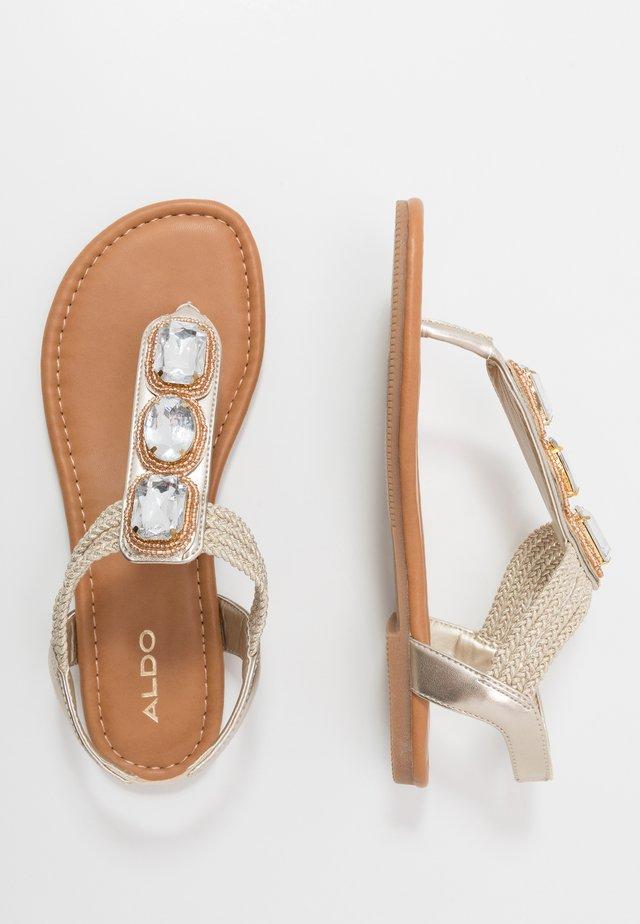 AVGUSTA - T-bar sandals - champagne