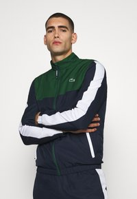 Lacoste Sport - TENNIS TRACKSUIT - Tracksuit - green/navy blue/white - 3