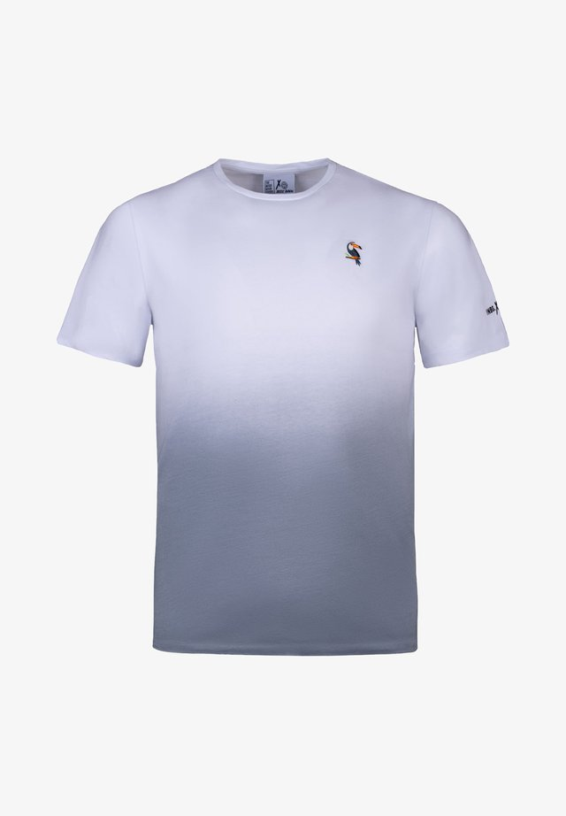 T-shirt con stampa - weiß/grau