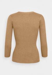 Anna Field - BASIC- rib 3/4 sleeve jumper - Strikkegenser - camel - 1