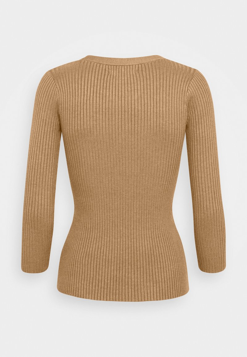 Anna Field BASIC- rib 3/4 sleeve jumper - Strickpullover - camel bvcGcP