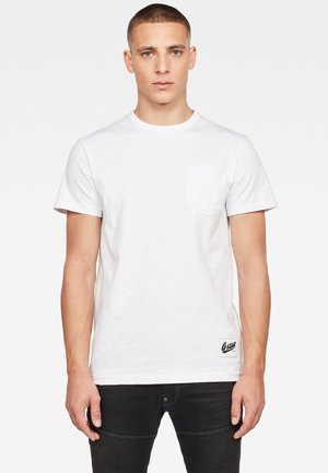 CONTRAST POCKET - T-shirt - bas - white