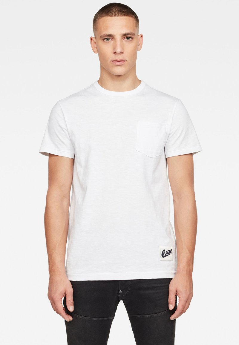 G-Star - CONTRAST POCKET - T-shirt basique - white
