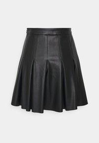 NA-KD - DARTED MINI SKIRT - A-line skirt - black - 1