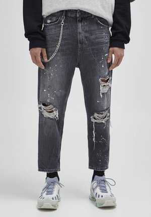 Jean boyfriend - mottled dark grey