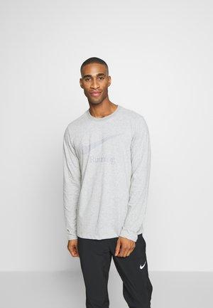DRY TEE RUN - Sports shirt - dark grey heather