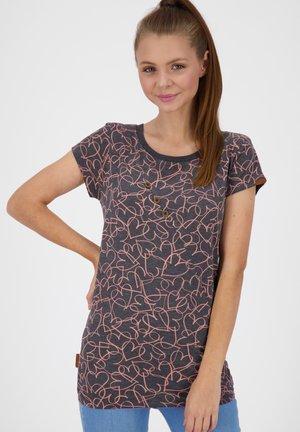 ZOEAK  - Print T-shirt - coral