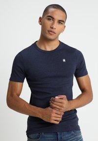G-Star - DAPLIN - Print T-shirt - sartho blue heather - 0