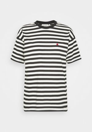 PARKER - Print T-shirt -  black/wax