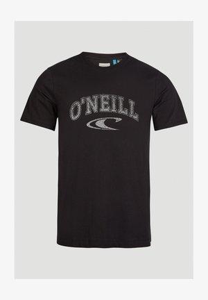 T-shirt med print - black out