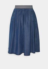 More & More - SKIRT SHORT - A-line skirt - mid blue denim - 0